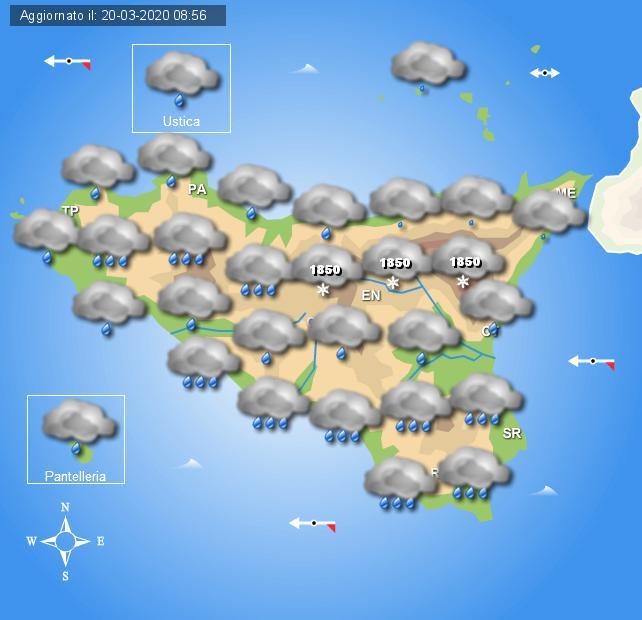 Meteo weekend 21 marzo Sicilia