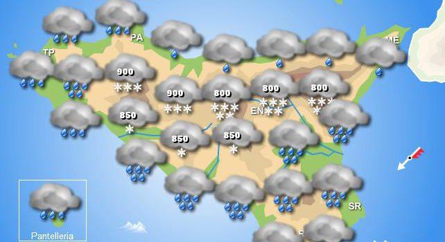 Meteo mercoledì 25 marzo Sicilia