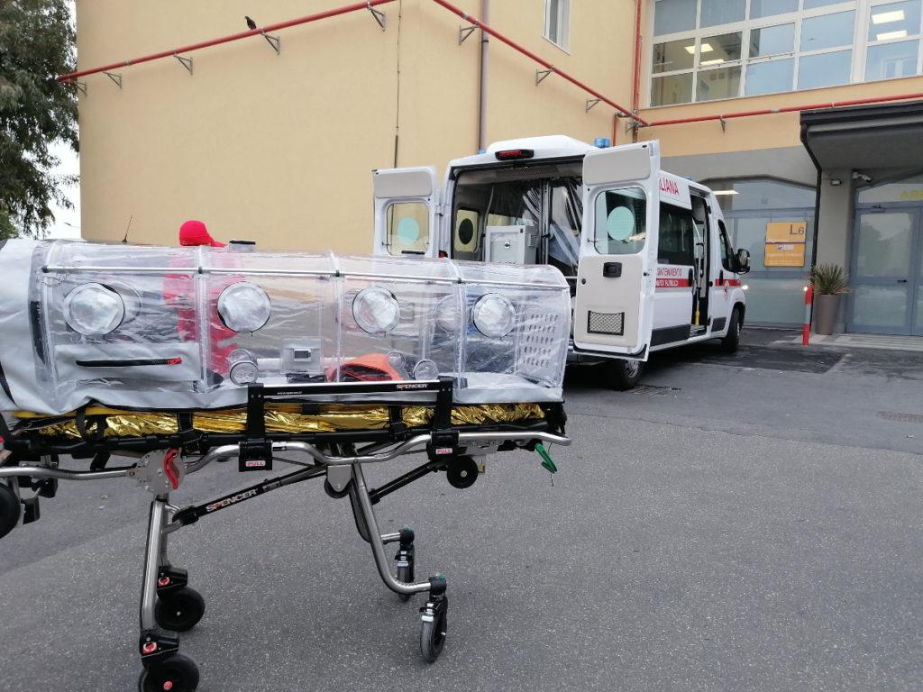 Trasferiti i primi pazienti Covid