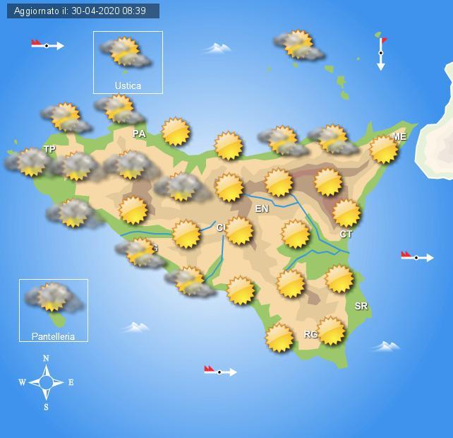 Meteo venerdì 1 maggio Sicilia