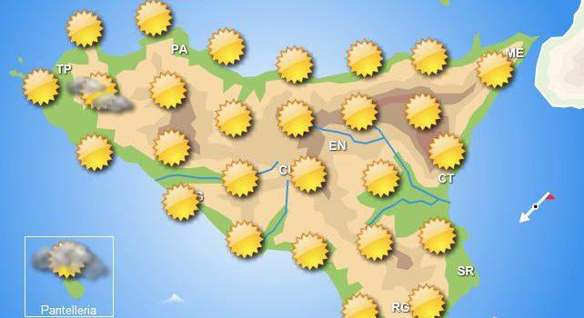 Meteo venerdì 10 aprile Sicilia