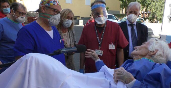 Operata paziente Covid 97enne