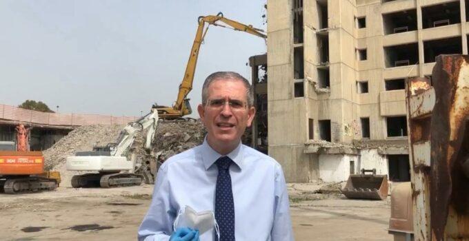 Demolizione ex Palazzo Poste Catania