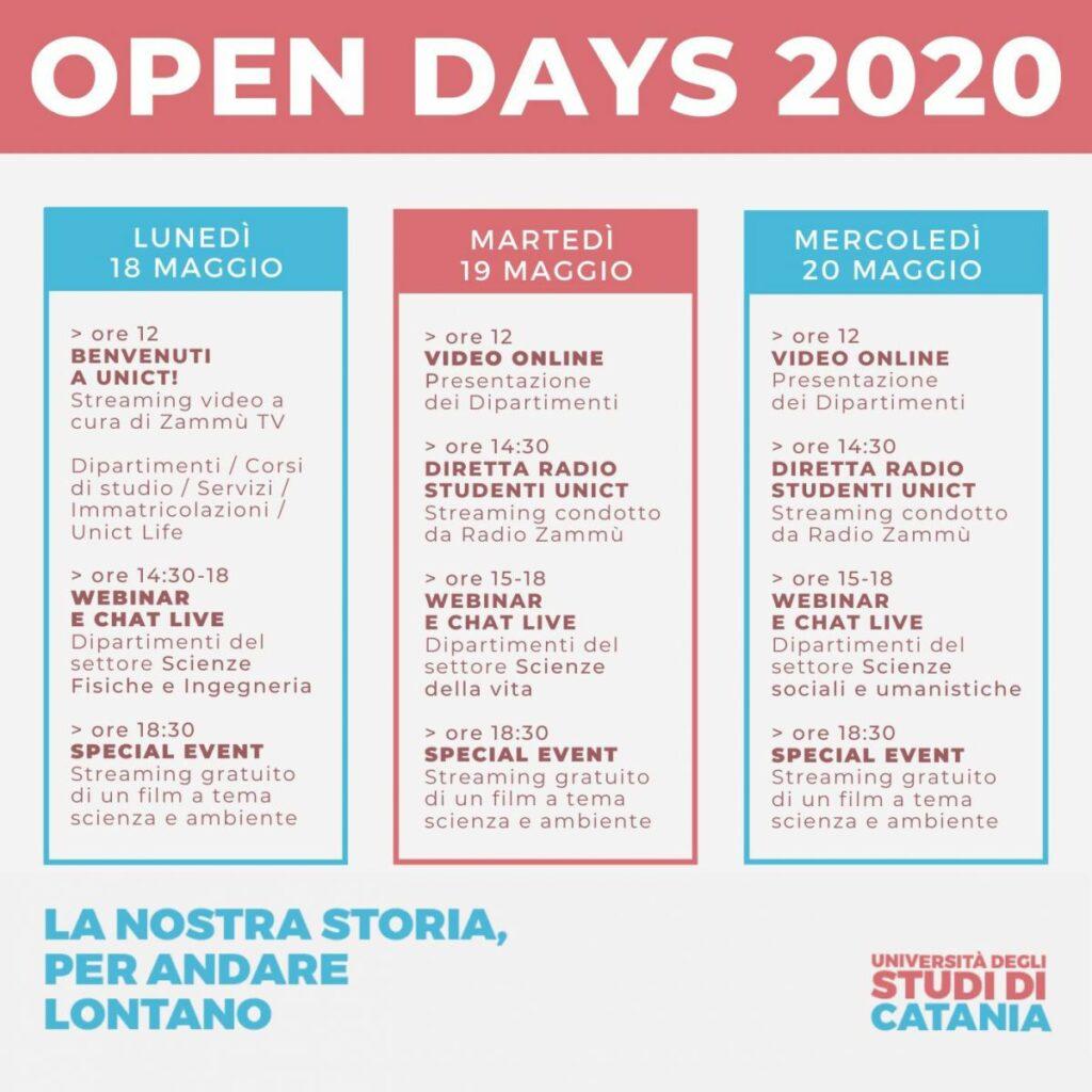 Open days online