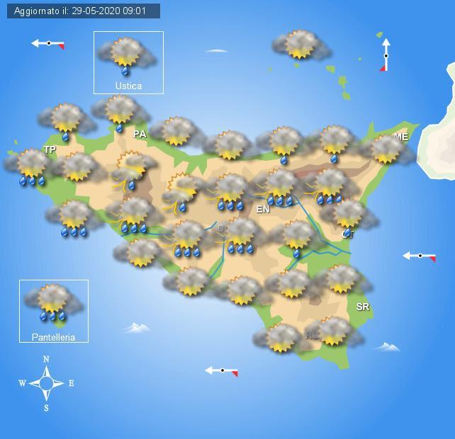 Meteo sabato 30 maggio Sicilia