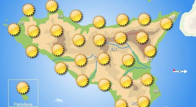 Meteo mercoledì 17 giugno Sicilia