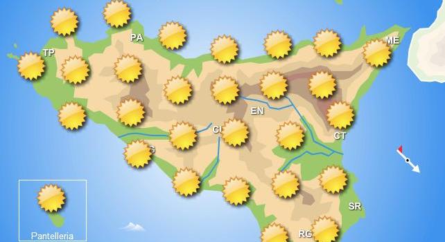 Meteo Sicilia giovedì 25 giugno