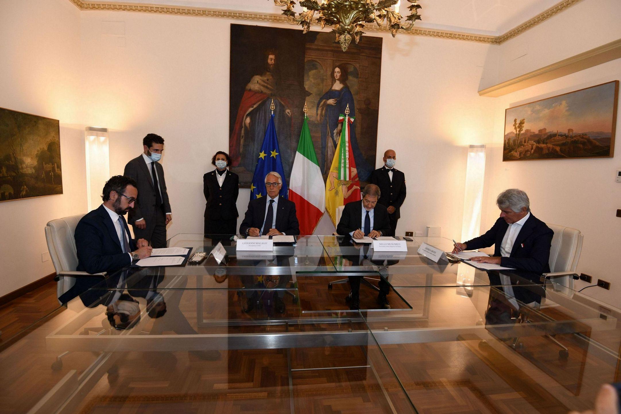 Sport: 50 mln per gli impianti, firmato accordo tra Regione, Irfis, Coni e Ics