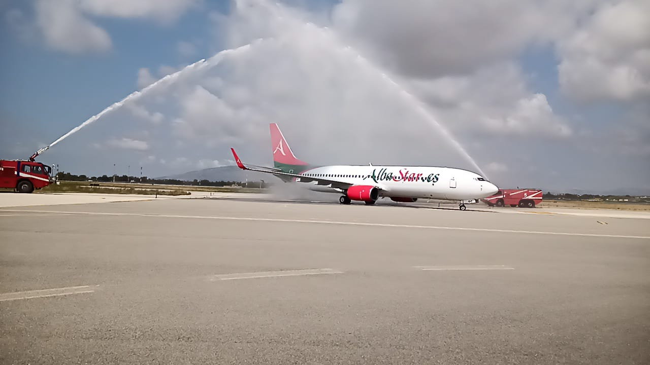 Primo volo AlbaStar a Birgi