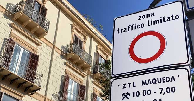 ZTL nel centro storico di Palermo