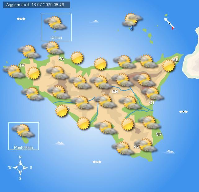 Meteo martedì 14 luglio Sicilia