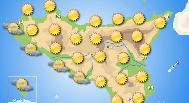 Meteo mercoledì 8 luglio Sicilia
