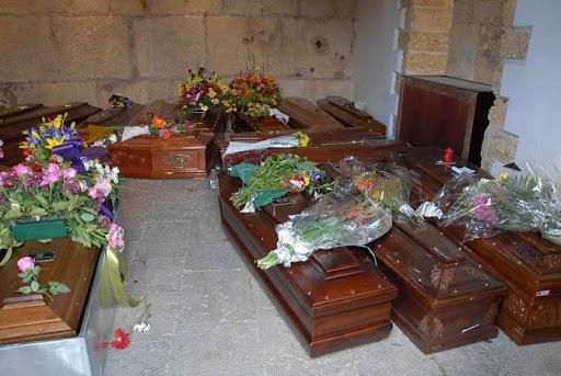Bare in attesa al cimitero di Palermo