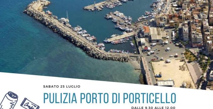 Pulizia porto di Porticello Palermo