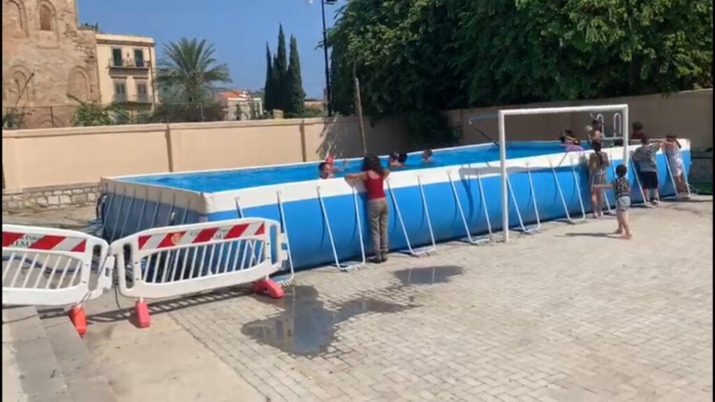 Una piscina per i bambini della Magione