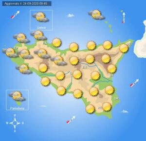 Meteo Sicilia di venerdì 25 settembre