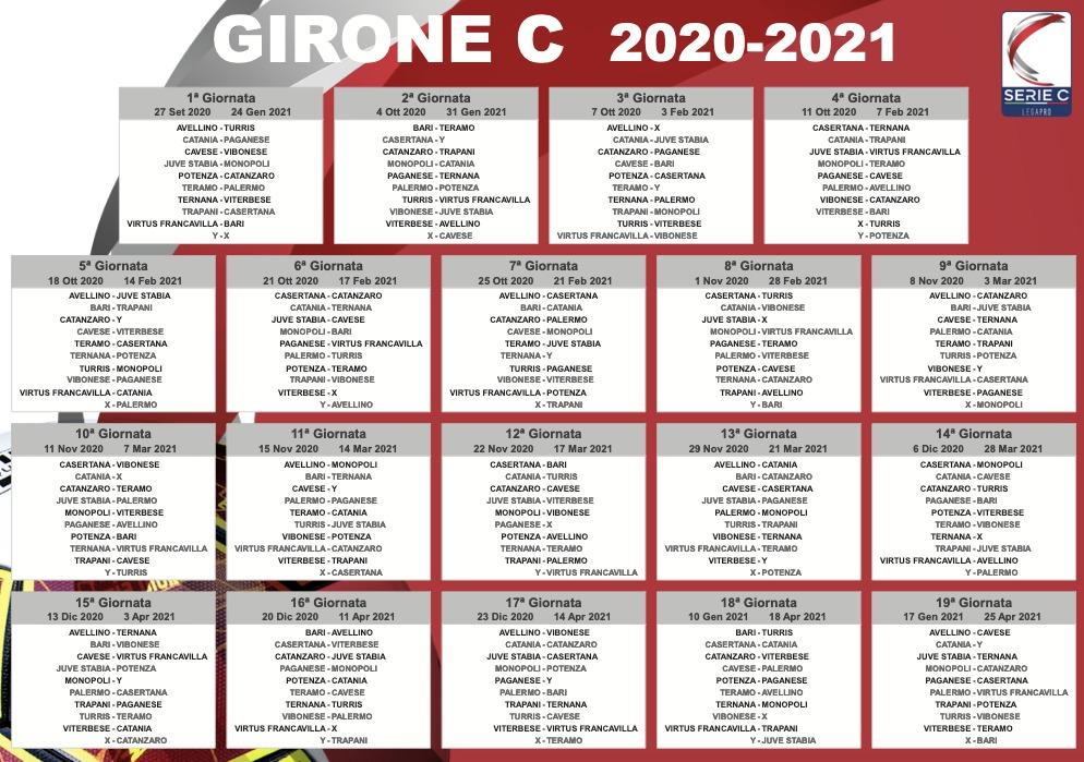 Serie C: sorteggiato il calendario di Palermo, Catania e Trapani