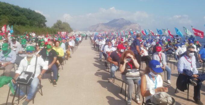 Protesta dei sindacati a Palermo