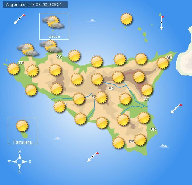 Meteo Sicilia di giovedì 10 settembre