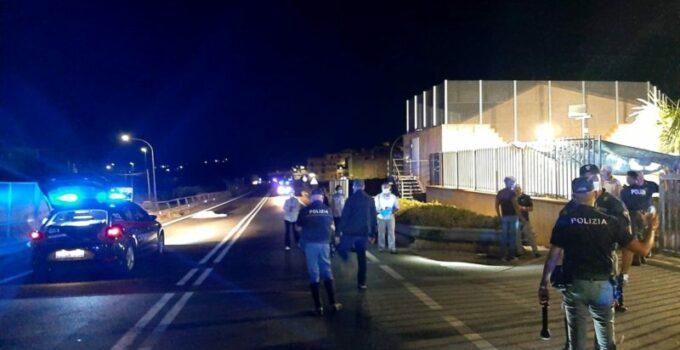 Migrante in fuga dall'hotspot di Siculania