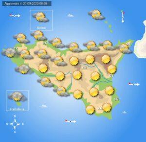 Meteo Sicilia di lunedì 21 settembre
