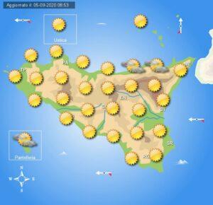 Meteo Sicilia domenica 6 settembre