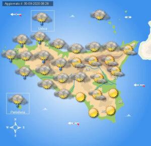 Meteo Sicilia di giovedì 1° ottobre