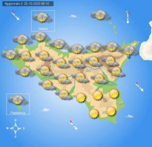 Meteo Sicilia di lunedì 26 ottobre