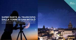 Super Marte dalla Torre di San Nicolò, il 22 ottobre osservazioni al telescopio