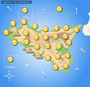 Meteo Sicilia di mercoledì 21 ottobre