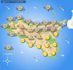 Meteo Sicilia di mercoledì 28 ottobre