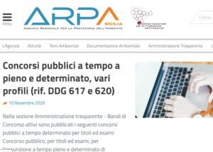 Arpa Sicilia, concorsi per l'assunzione di 19 laureati e diplomati