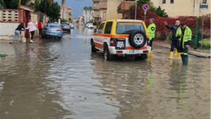 Bomba d'acqua a Licata (Ag), allagamenti e disagi