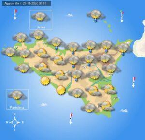 Meteo Sicilia di lunedì 30 novembre