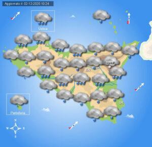Meteo Sicilia di giovedì 3 dicembre