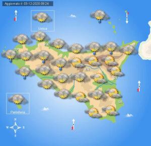 Meteo Sicilia di venerdì 4 dicembre