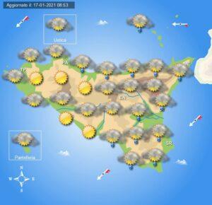 Meteo Sicilia di lunedì 18 gennaio