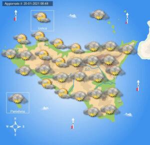 Meteo Sicilia di giovedì 21 gennaio