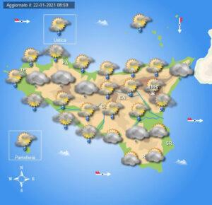 Meteo Sicilia di sabato 23 e domenica 24 gennaio