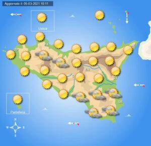 Meteo Sicilia di sabato 6 e domenica 7 marzo