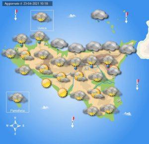 Meteo Sicilia di sabato 24 e domenica 25 aprile