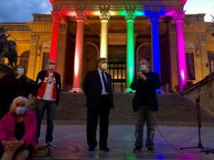 Flash mob, testimonianze, interventi e diritti: Palermo in piazza per la Legge Zan