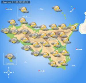 Meteo Sicilia di venerdì 14 maggio