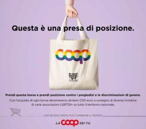 """Anche in Sicilia le borse """"pride"""" di Coop, contro le discriminazioni di genere"""