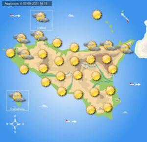 Meteo Sicilia di mercoledì 4 agosto