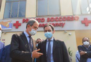 Inaugurato nuovo Pronto soccorso di Giarre alla presenza di Musumeci e Razza