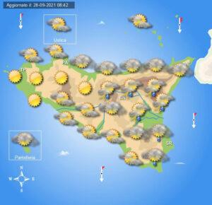 Meteo Sicilia di mercoledì 29 settembre