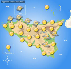 Meteo Sicilia di martedì 19 ottobre