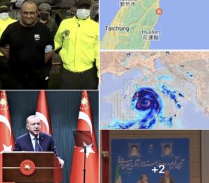 #Tanomattinale 24 ottobre 2021: preso superboss della cocaina, Erdogan contro tutti, terremoto a Taiwan e paura Medicane, Azerbajian, la timpulata al governatore, ginnastica d'oro