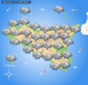 Meteo Sicilia di giovedì 28 ottobre